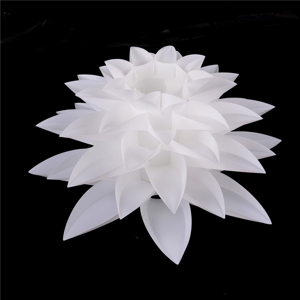 Diy Lily Lotus Iq Puzzle Pendant Lampshade Cafe Restaurant Ceiling