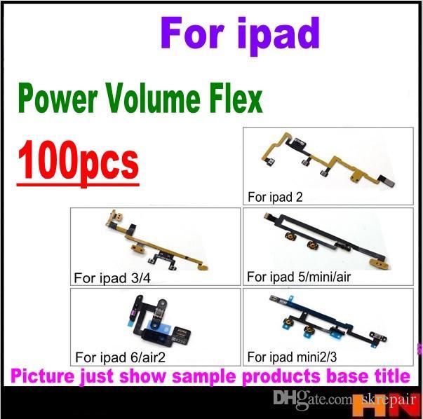 Flex Kabel Löten 100 Stücke Für Ipad 2 3 4 5 6 Mini Power Aus Aus