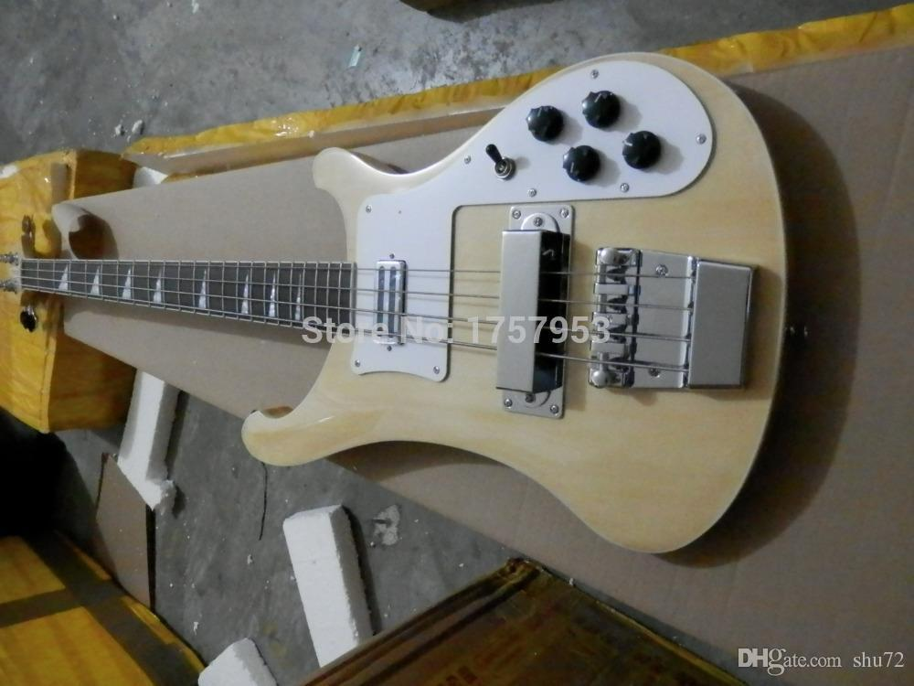 Fábrica custom shop 2015 Mais Novo RICK 4 cordas 4003 cor natural de madeira Guitarra Baixo Elétrico frete grátis 3dfg