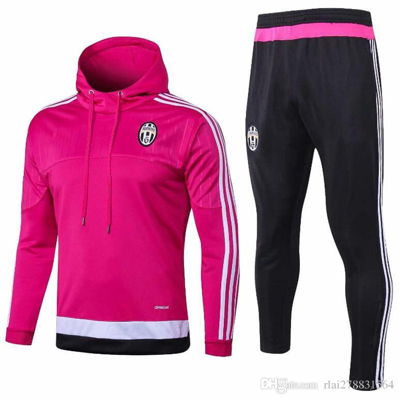 2018 2019 nova versão retro rosa Juventus moletom com capuz casaco de  futebol terno 1819HIGUAIN MANDZUKIC D. COSTA DYBALA adulto jaqueta de  treinamento ... 1798b995230b4