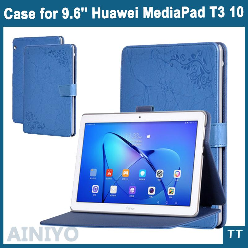 size 40 10c07 d4be1 Case For Huawei MediaPad T3 10 AGS-L09 AGS-L03 High Quality PU Leather  Cover For Huawei T3 10 9.6 Screen Film gifts