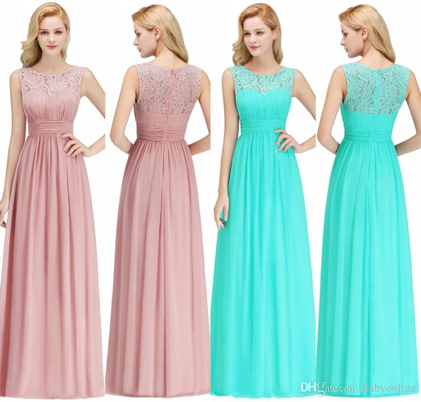 75066d5f3593 100% Real Photos Cheap Bridesmaids Dresses For Summer Boho Beach Weddings A  Line Lace Chiffon Floor Length Wedding Guest Gowns CPS1067 Bridesmaids  Dresses ...