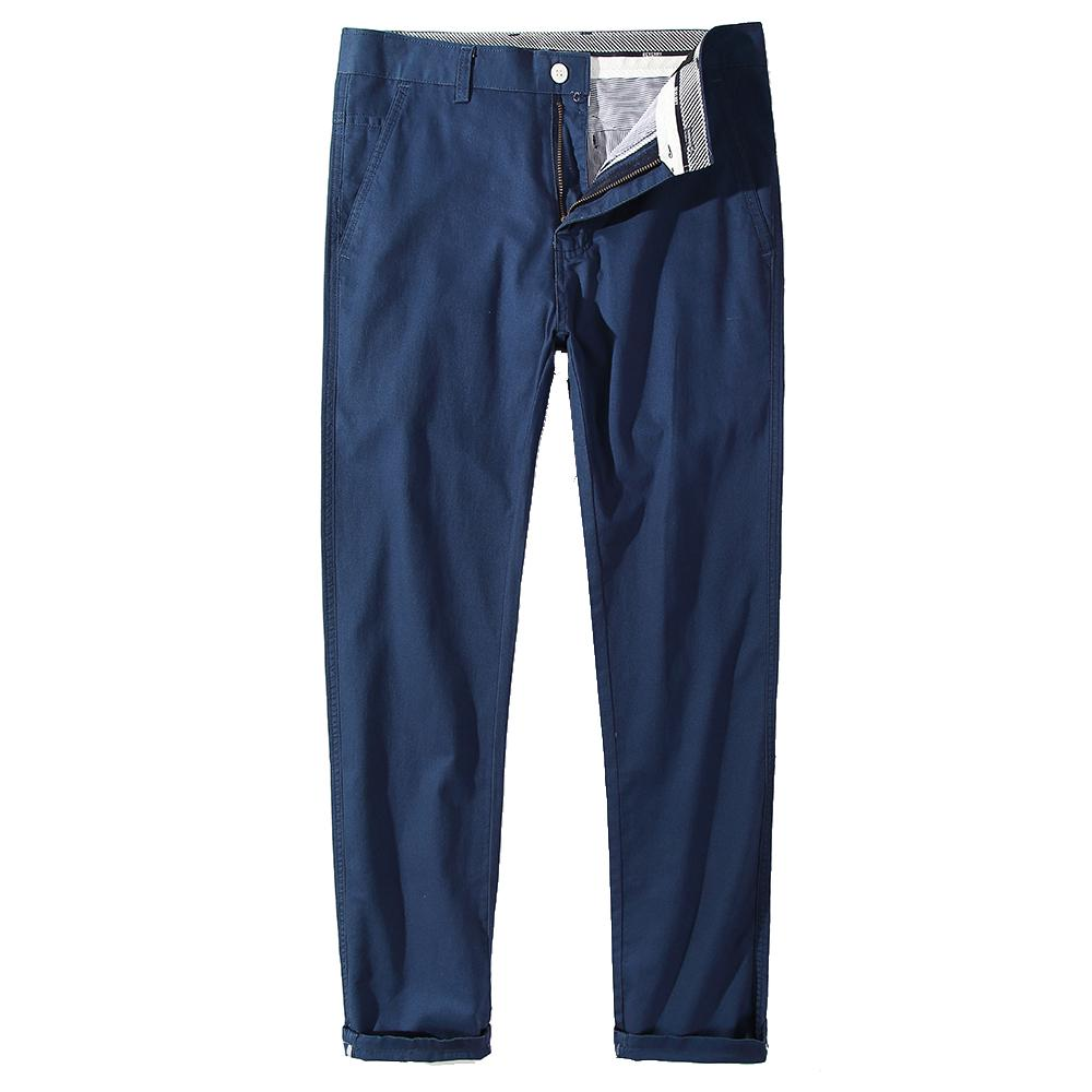 Beverry 100 Cotton Men Chino Pants Lightweight Summer Straight Breathable Mens Trousers Casual