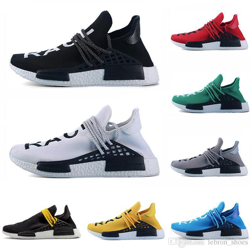 2edccf45458 Acheter Adidas NMD Human Race Original Race Humaine Chaussures De Course  Jaune Noir Rouge Gris Blanc Pharrell Williams Hommes Formateur Femmes  Sneaker Mode ...