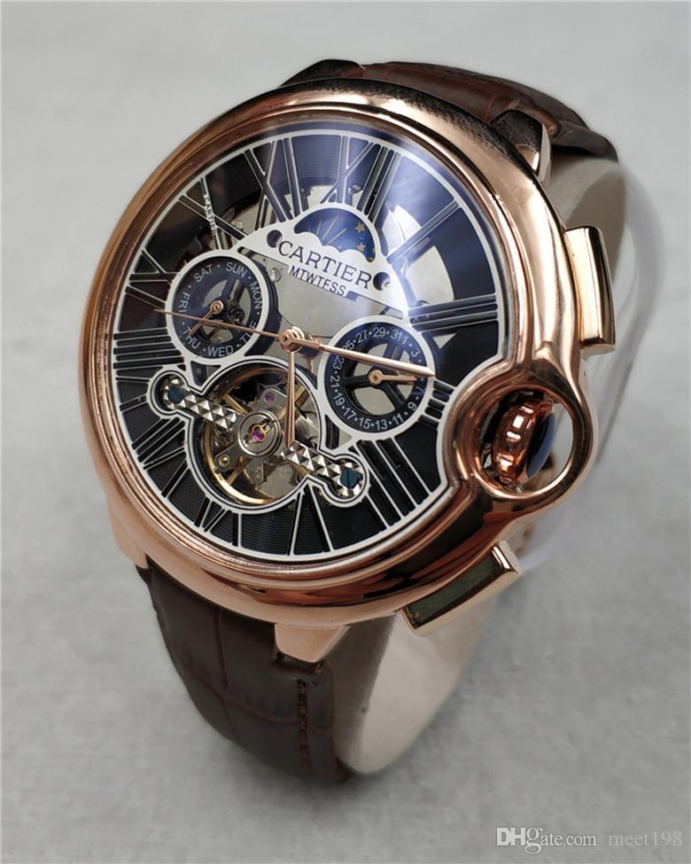 c183a424012 Compre 2019 Novos Mens Relógios Top Marca De Luxo Relógio Do Esporte ...