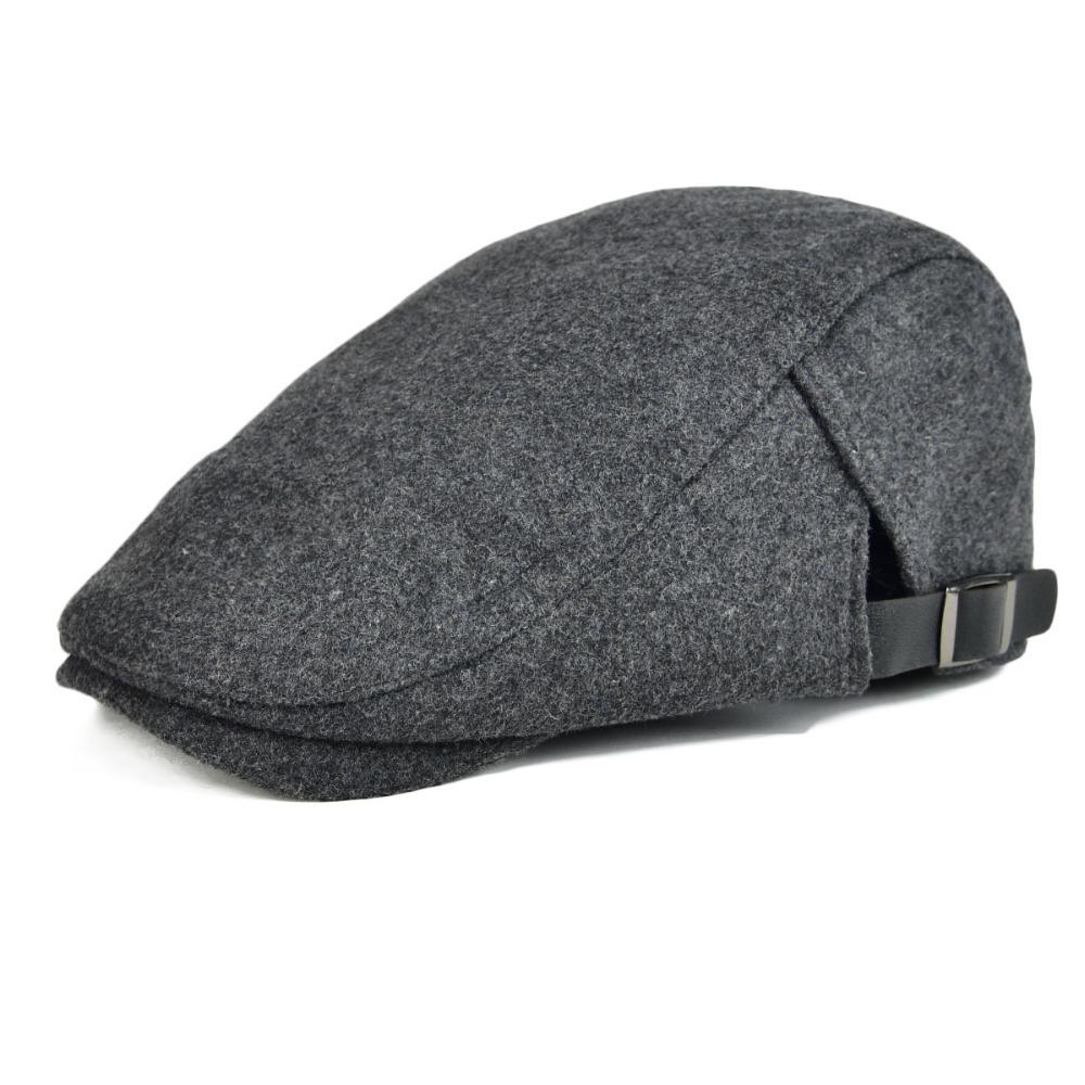 VOBOOM Woolen Tweed Flat Cap Black Golf Caps Classic Beret Adjustable Dad  Boina Female Gatsby Sun Protection Hats 031 Y18102210 Online with   21.86 Piece on ... 4fc2481311a