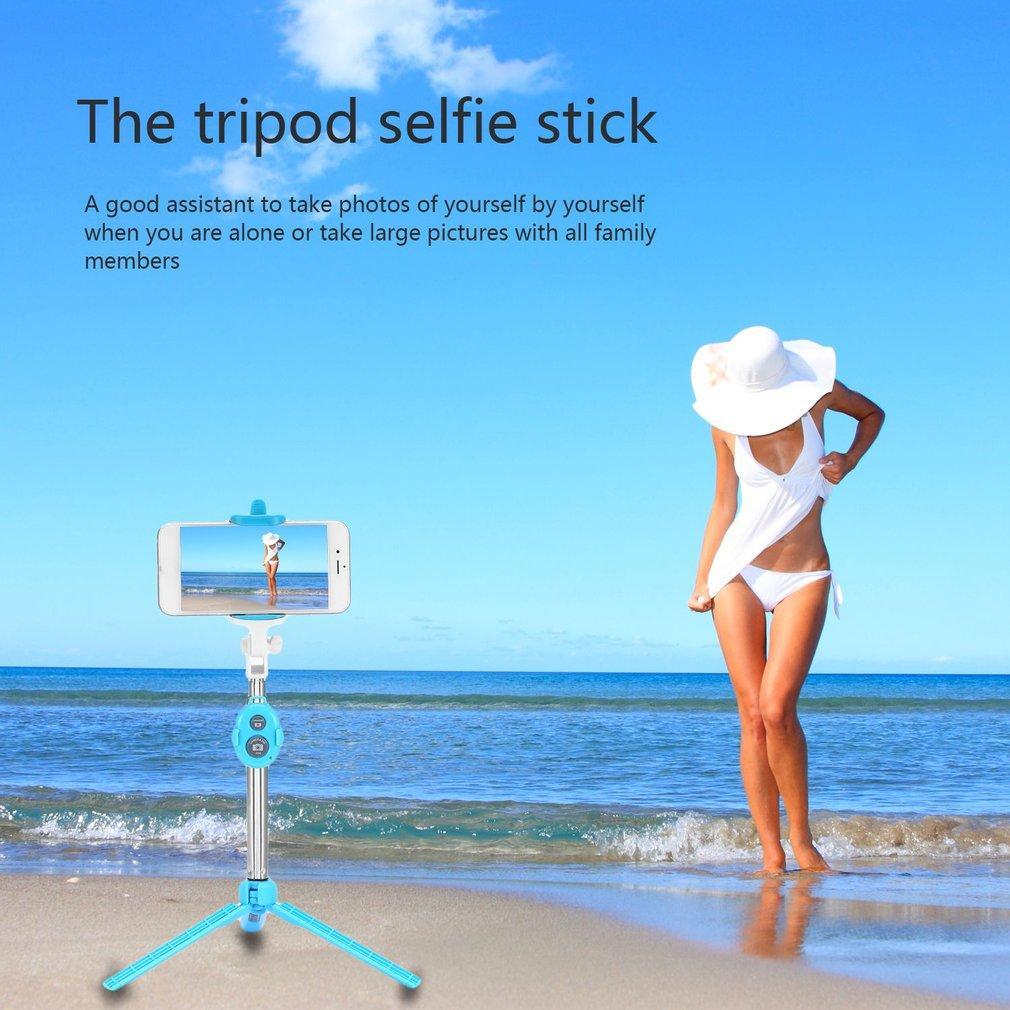 Freeshipping 4 в 1 Беспроводной Bluetooth 4.0 пульт дистанционного спуска затвора + ручной мобильный телефон Selfie Stick монопод + штатив+держатель для IOS Android смартфон