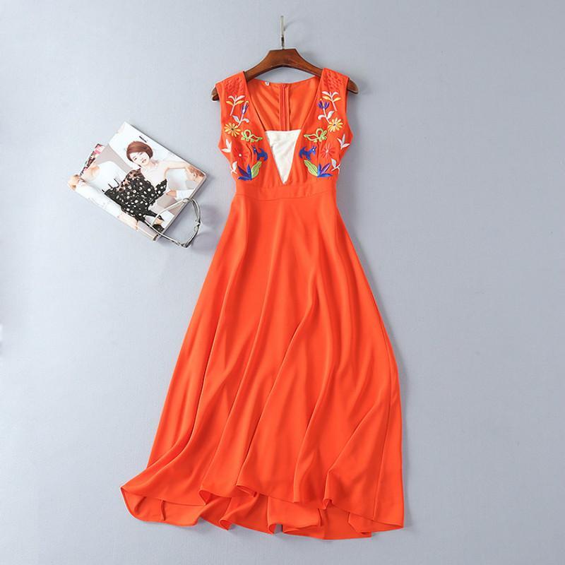 530313305e Compre OLN 2018 Vestido De Fiesta Bordado Fiesta V Cuello Profundo Vestidos  Femeninos Vestidos Largos Diseñador Vestidos Vestidos Elegantes Nuevo  Llegado A ...