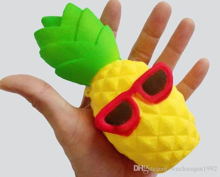 Pineapple Squishy Sunglasses Decompression Jumbo Scented Simulation Squishies Decoration Kids Toy Glasses Squeeze Gift