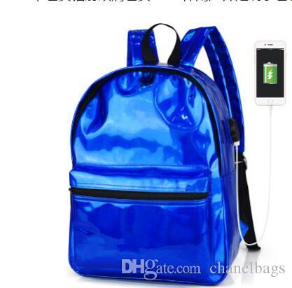 9fc684325c New Arrival Outdoor Sport Hologram Laser Backpack Girl School Bag Women  Rainbow Colorful Metallic Silver Laser Holographic Backpack Swissgear  Backpack Swiss ...