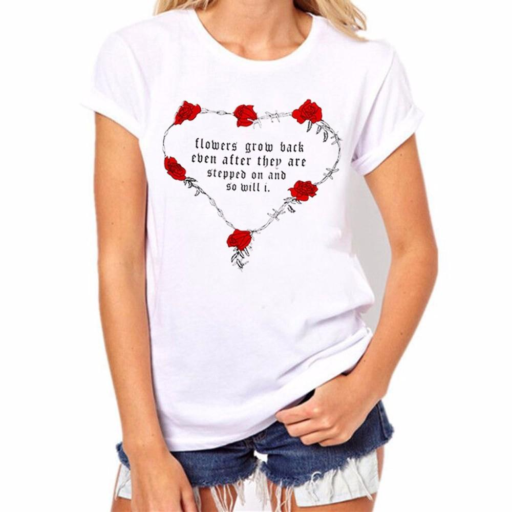75d19f2dd Fashion 2018 Valentine'S Day Women Men Lover Couple'S T Shirt Lovely Rose  Letter Print Short Sleeve Tops T Shirt Ropa Cool Tee Shirt Designs Buy Cool  T ...