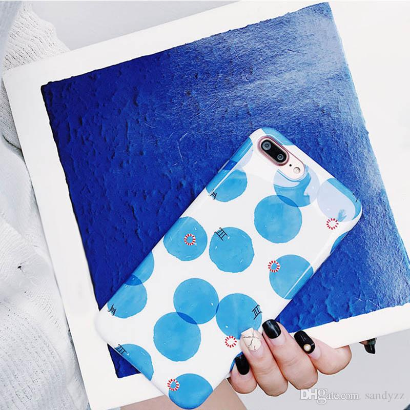 683b89e20607 Polka Dot Printed Cute Soft Flexible Slim Fit Tpu Gel Protective Case Cover  For IPhone 8 Plus   IPhone 7 Plus Leather Cell Phone Cases Phones Cases  From ...