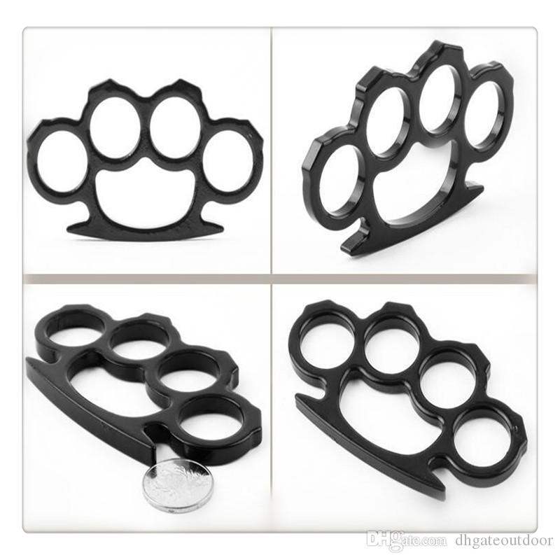Thin Steel Brass Knuckle Dusters Silver and Gold Self Defense Personal Security Women's and Men's self-defense Pendant Fitness Supplies