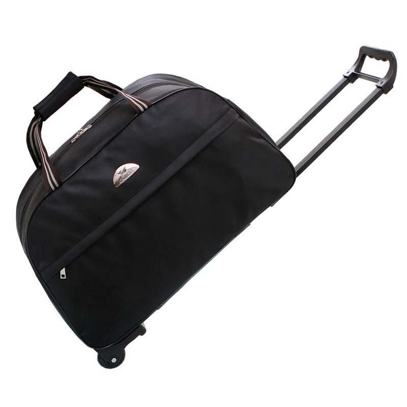 f23ef95b2ba2 Women Fashion Wheels Duffle Luggage Bag Folding Large Capacity Travel Bags  Clothes Organizer Tug Bag Travel Backpack Duffel From Chingkee