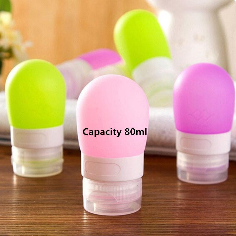 c0b3e90c4e36 Wholesale- 80ml Portable Mini Traveler Packing Bottle Silicone Refillable  Storage Press Bottles for Lotion Shampoo Bath YL674493