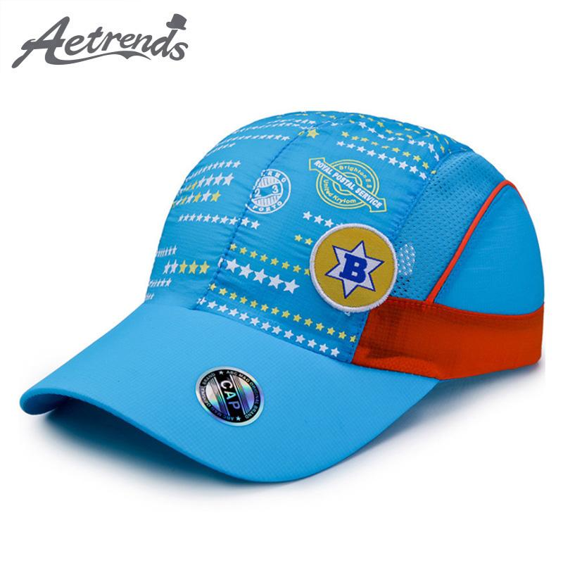 7fdd948b77d AETRENDS 2018 New Summer Girls Boys Hats Quick Dry Kids Baseball Caps Thin  Breathable Snapback Bone Hats For Kid Z 6509 Leather Hats The Game Hats  From ...