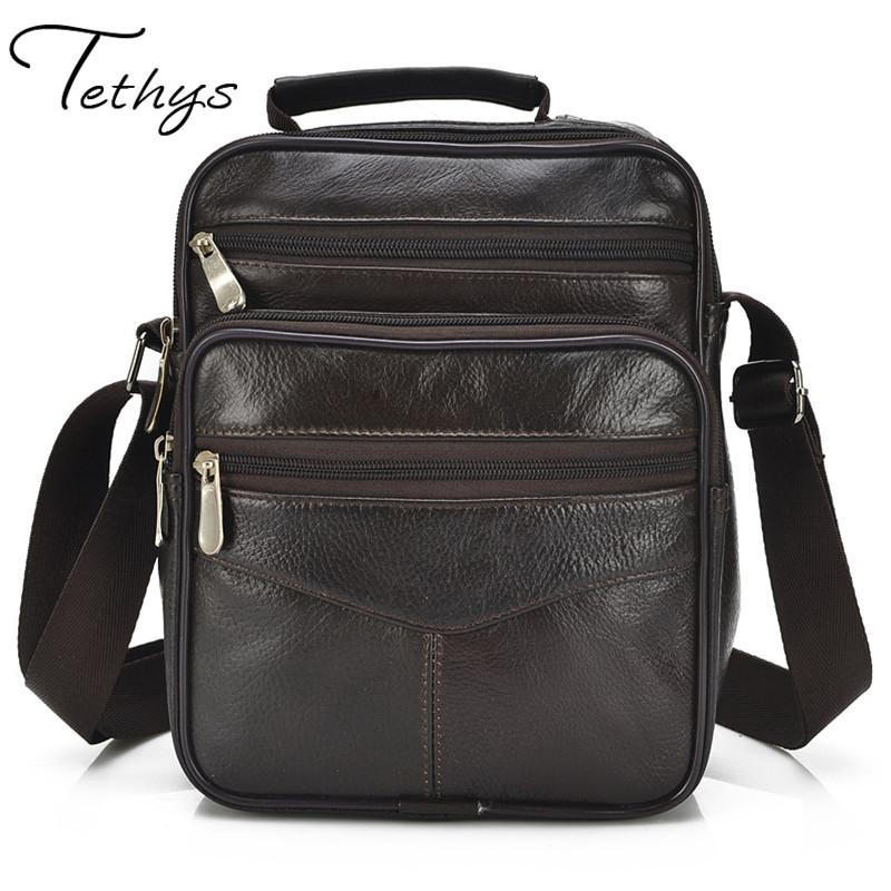 2017 high quality genuine leather male bag fashion trend of classic sheepskin shoulder bag briefcase men messenger bags laptop