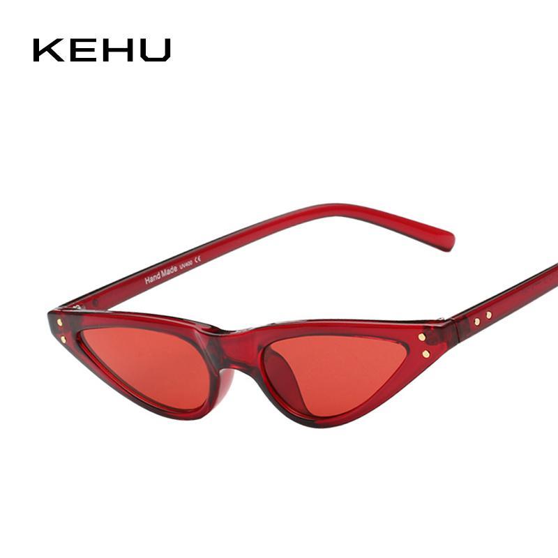 8ebed42453 KEHU Retro Windproof Glasses New Style Cat Eye Frame Sun Protection ...