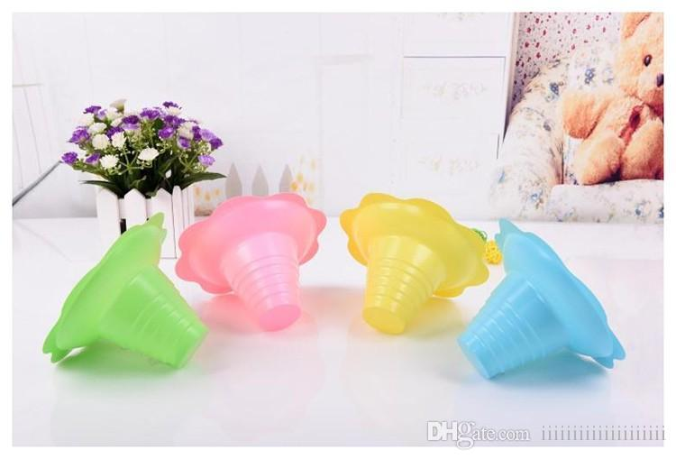 1000pcs/lot disposable plastic ice cream Parfait sundae cup Flower shape cups Bowls 250ML Event Party Wedding