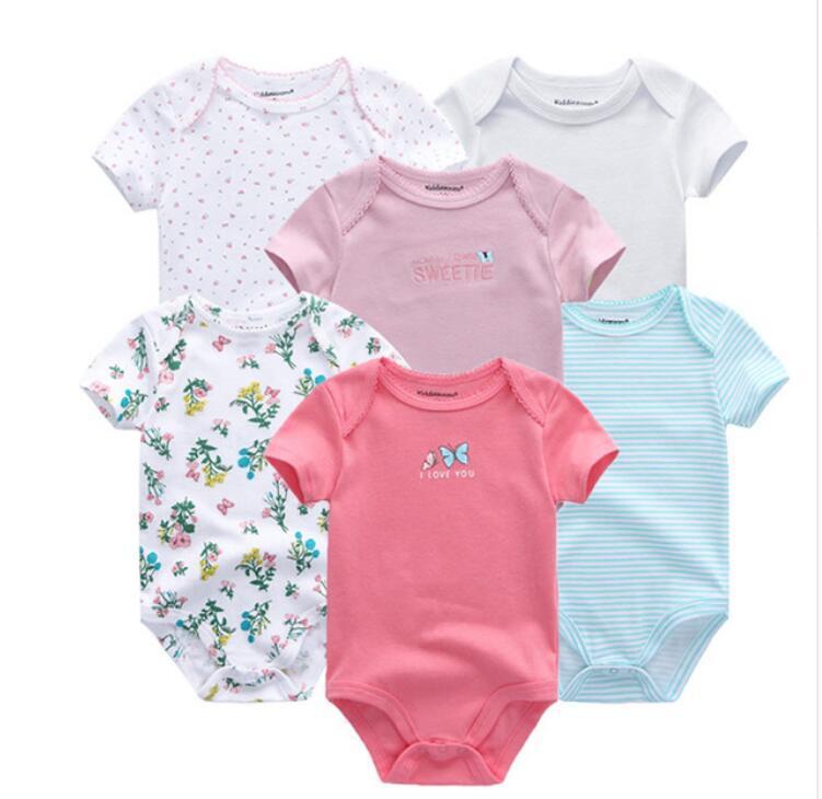 b21eebedf3a2 Fashion 0-12M Newborn Baby Bodysuits Short Sleevele Clothes O-neck ...