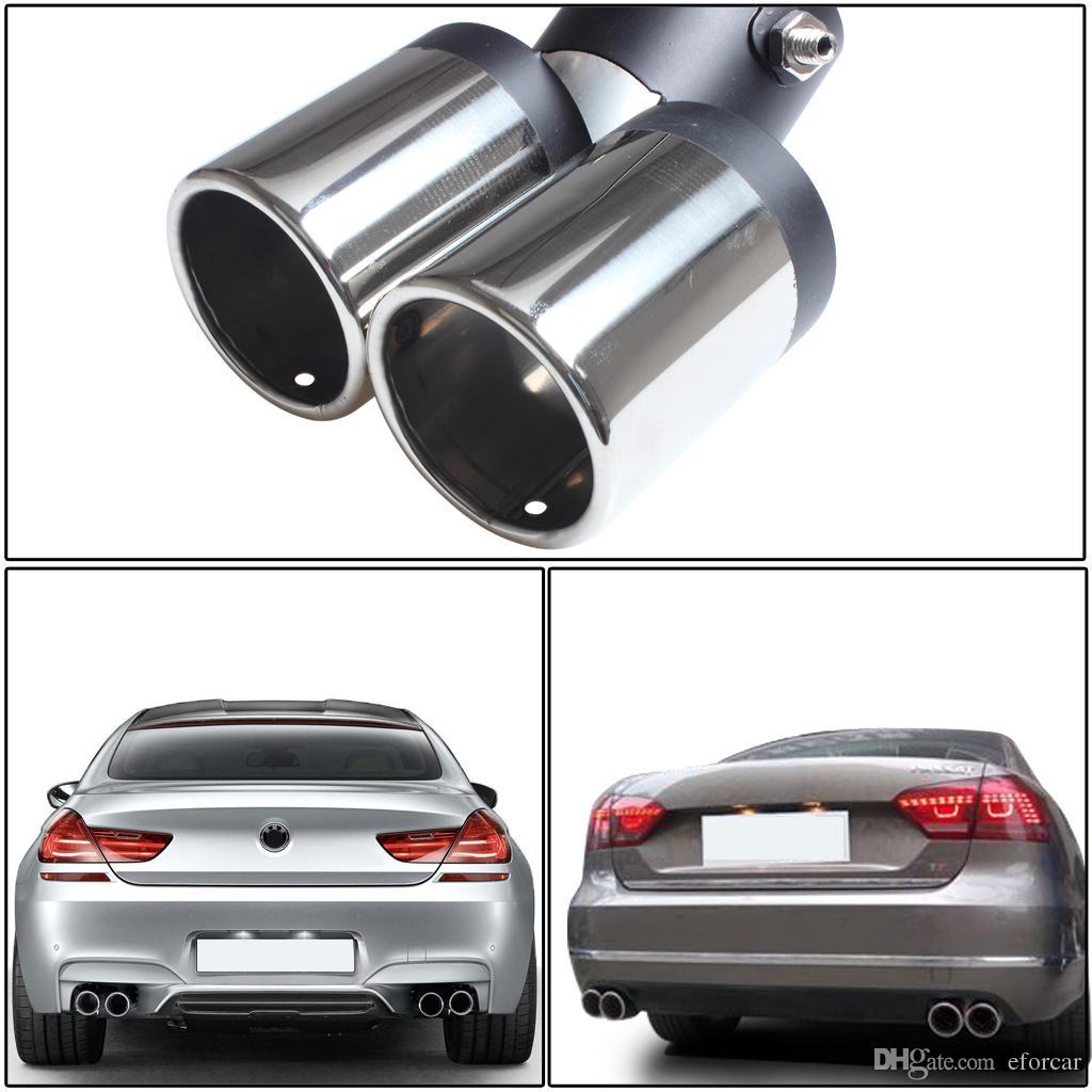150mm Abgasrohr Auto Edelstahl Chrom Double Dual Auspuff Heckendschalldämpfer Tipp Rohr Großhandel