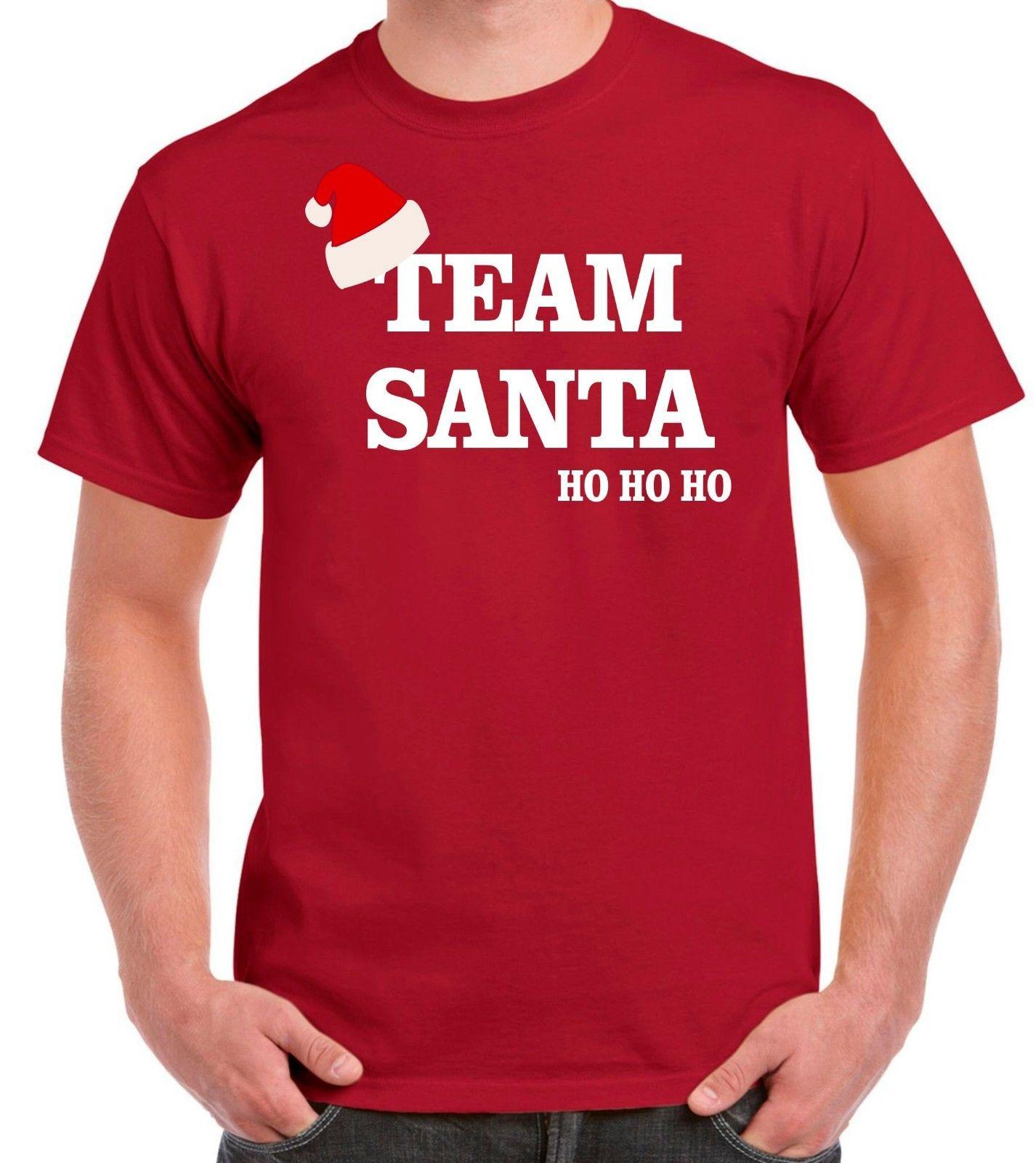 069c0d766ef Team Santa Men T Shirt Christmas Present Slogan Funny Joke Fashion Design  Trend Cool Casual Pride T Shirt Men Unisex New Funny Offensive T Shirts T  Shirt ...