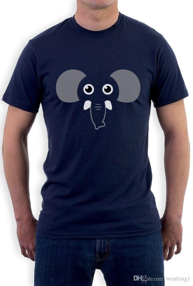 482139adbe78e Elephant Face Gift For Elephants Lovers Cute Funny T Shirt Animal Lover  2018 Latest Men T Shirt Fashion Round Neck Men Top Tee Mens Formal Shirts  Buy T ...