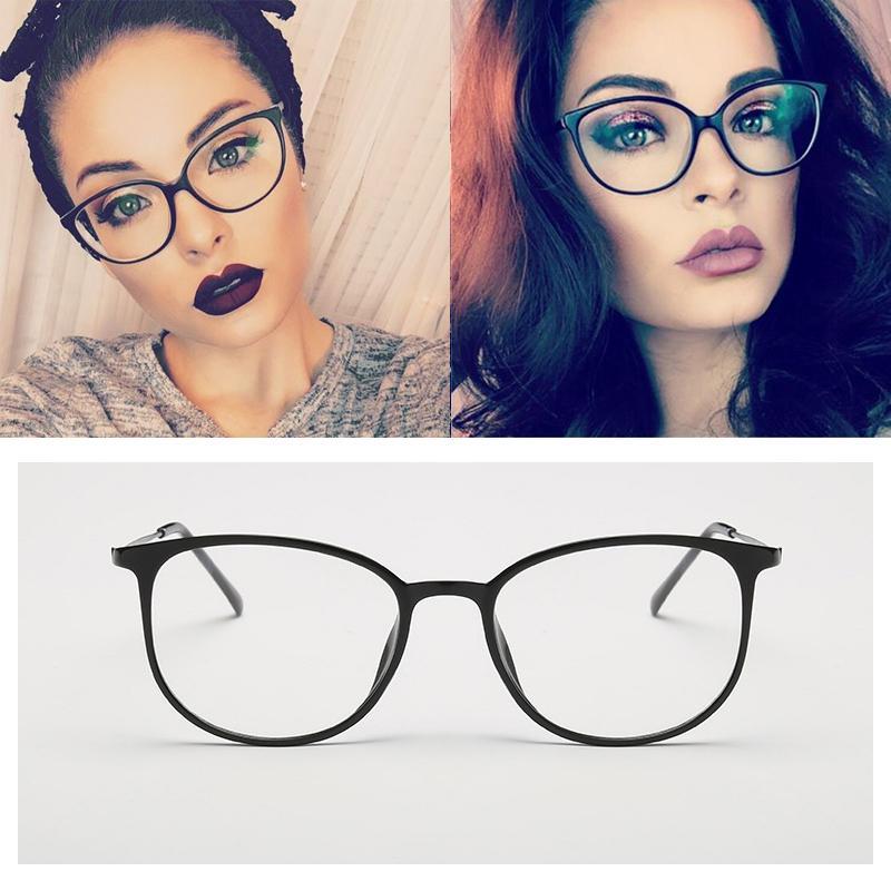 e0e48dd7d67 2019 Myopia Nerd Spectacle Frame Cat Eye Glasses Frame Clear Lens Women  Brand Eyewear Optical Frames Black Red Eyeglasses TR90 From Kuchairly