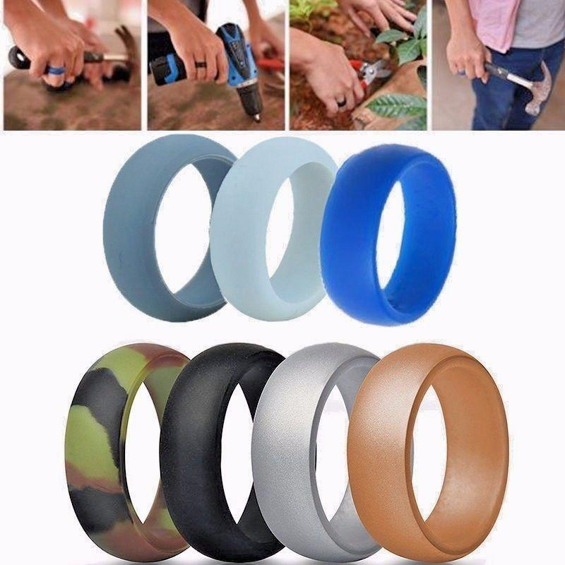 Silicone Rubber Wedding Engagement Ring Band Outdoor Sports Outdoor