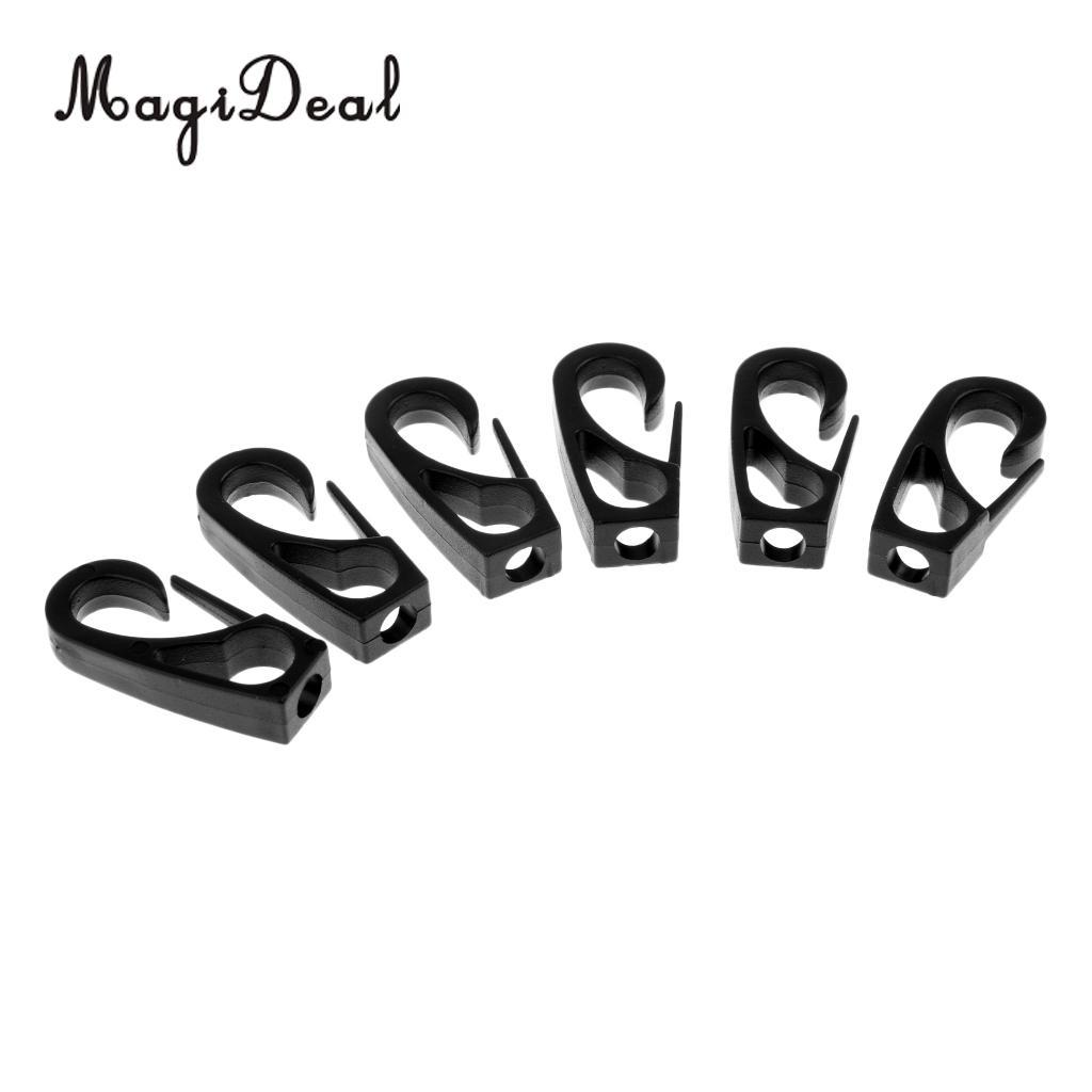 MagiDeal Pack 6 Kayak Canoe Boat Dinghy 6mm Bungee Elastic Rope Cord  Terminal End Hook Snap Clip Replacement Accessories