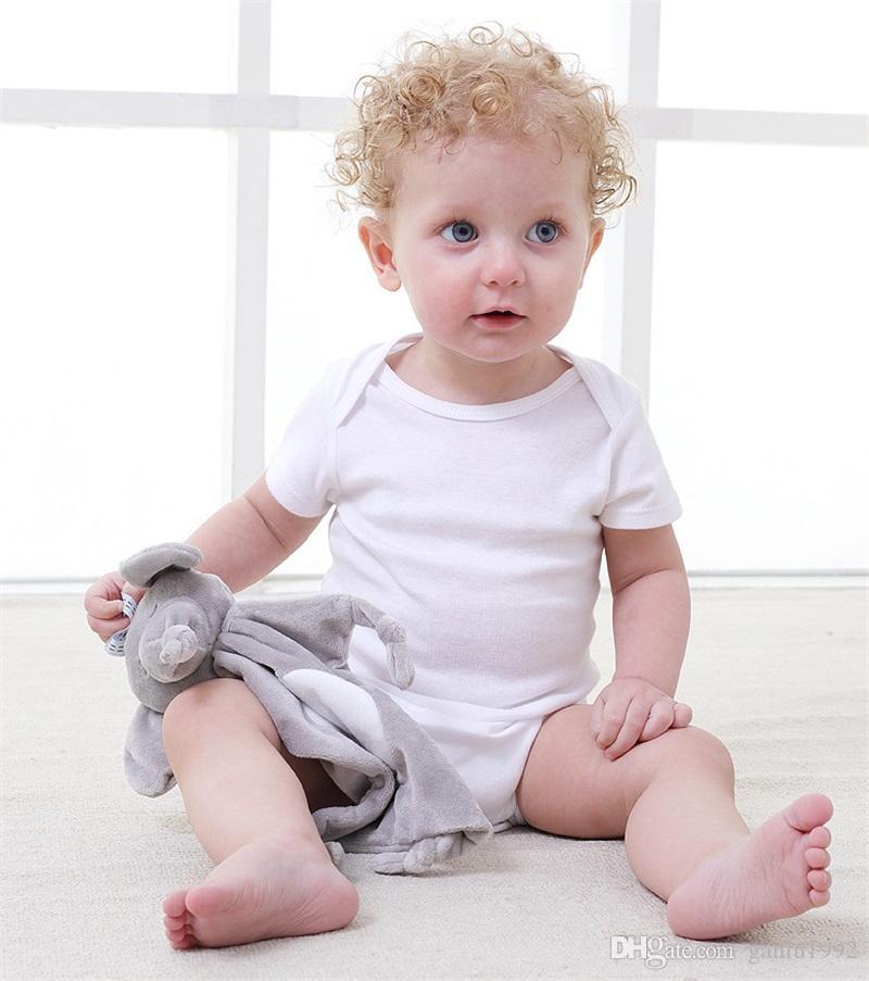 Newborn Blankie Soothing Towel Baby Lovely Animal Shape Gift Soft Elephant Rabbit Panda Toddler Kids Stuffed Dolls 7 5yt W