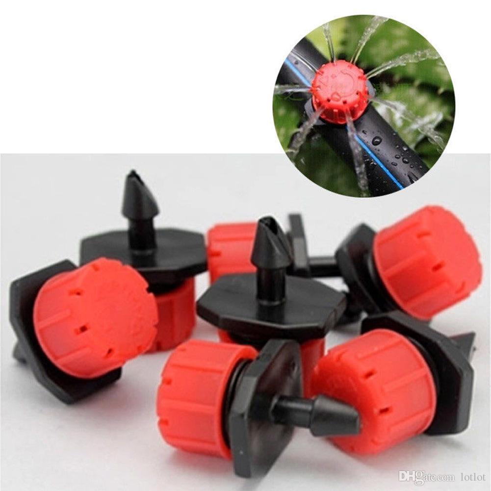 Micro Flow Dripper Drip Head 1/4 Inch Hose Micro dripper Garden Irrigation Misting garden sprinkler Adjustable Dripper