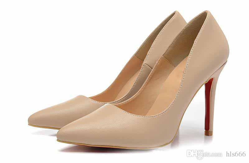 Sapatos de marca de fundo vermelho para as mulheres bombas sapatos de salto alto calcanhar senhora rosa sapatos de casamento Red Sole fashion party [Original Box, Shipping Bag]