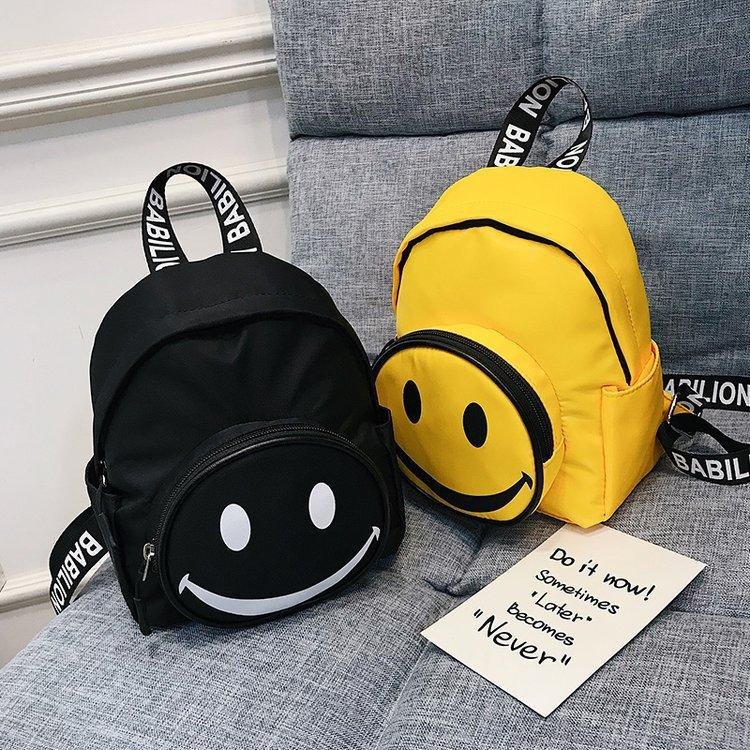 Cute Smiley Face Print Small Backpack For Girls Yellow Oxford Backpack  Students Travel Bag Preppy Style School Bag Backpacks Cheap Backpacks Cute  Smiley ... cefc55138a