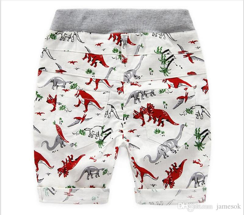 2 Farbe Kinder INS Dinosaurier Hosen Baby Kleinkinder Sommer Junge Mädchen Ins Tier Dinosaurier geometrische Figur Hose Shorts Leggings TO553