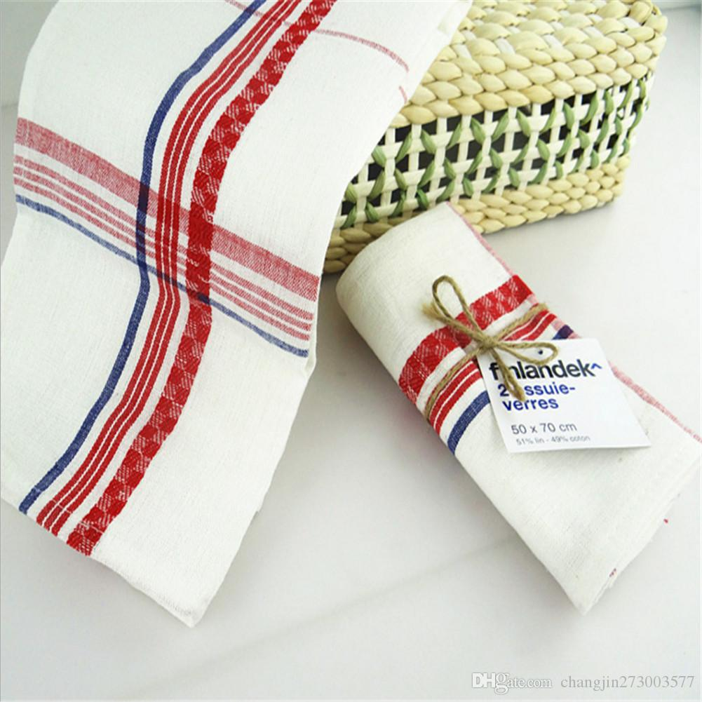 White Square Pure Cotton Table Napkin Dinner Pocket Handkerchief Cloth Napkin Wedding Decoration Home Textile 50*70cm