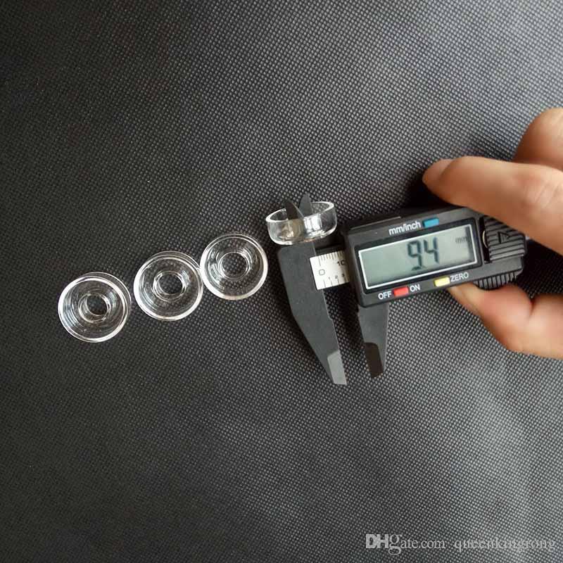 25 mm / 22mm od quarzo piatto ciotola tubi fumatori accessori Banger Titanium Dochless narghilè nargo unghie unghie Ittiglie di acqua di vetro Bong