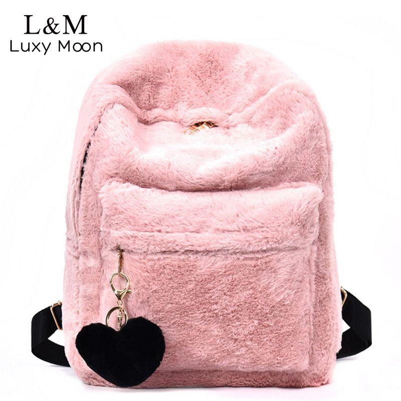00c75700e19d Luxy moon Women Velvet Backpack Cute Large Travel Bag Fashion Backpacks PU  Leather Bag For Teenage Girls School Bags New XA1033H