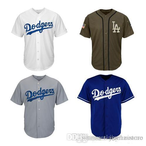 565b50f9f1c 2019 2019 Men Women Youth Dodgers Jerseys Blank Jersey Baseball Jersey No  Name No Number White Gray Grey Blue Green Salute To Service From  New jersey store