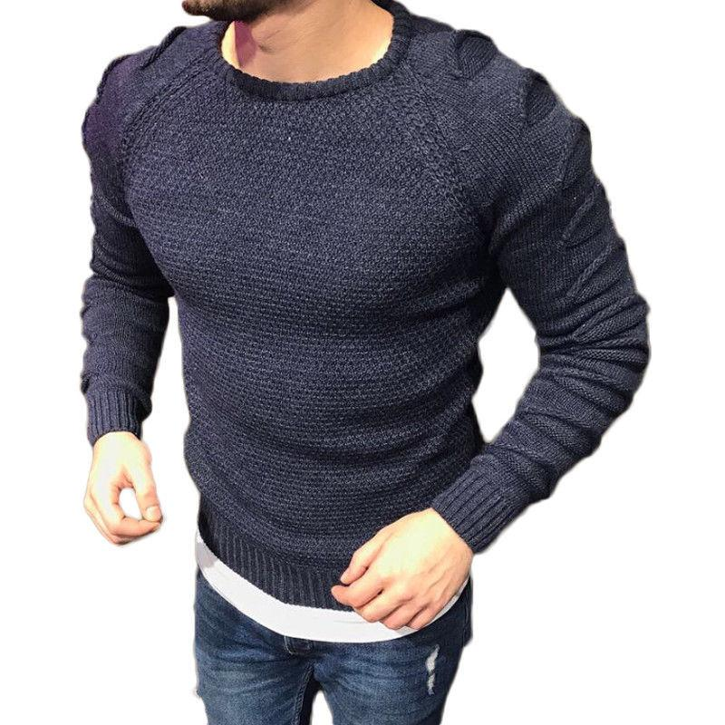 2019 New Mens Sweaters Merino Wool O Neck Jumper Pullover Knitted Top Plain  Designer Ripped Hole Sweater Top For Men C18111501 From Lizhang03 910d4986e