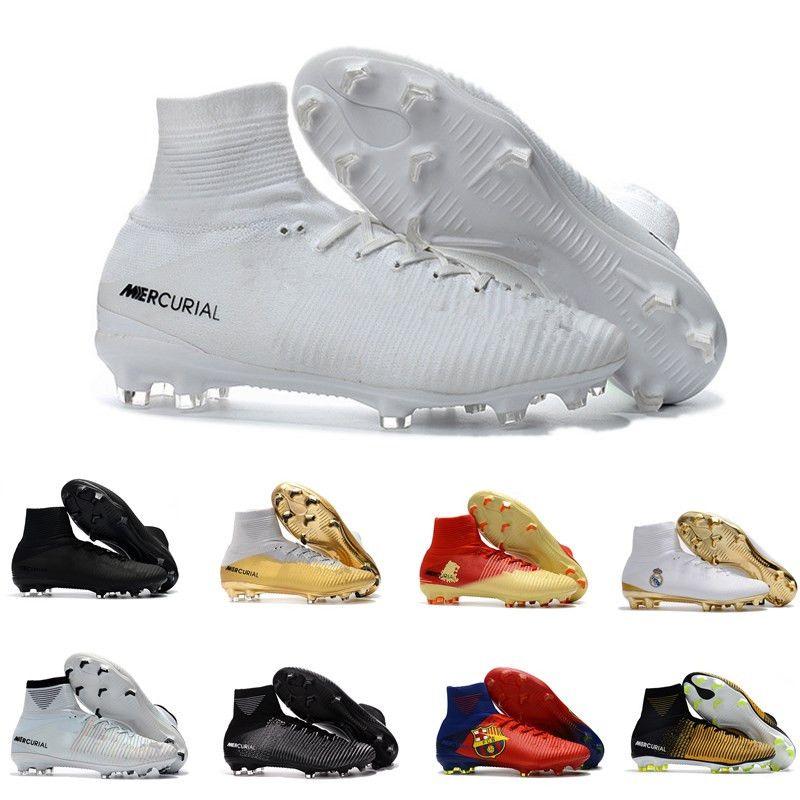 Compre Copa Mundial 2018 Hombres Mercurial Superfly CR7 AG FG Zapatos De  Fútbol Ronaldo Tobillo Alto Mujeres Magista Obra ACC Zapatos De Fútbol  Neymar JR ... 262fe14a6fcb9