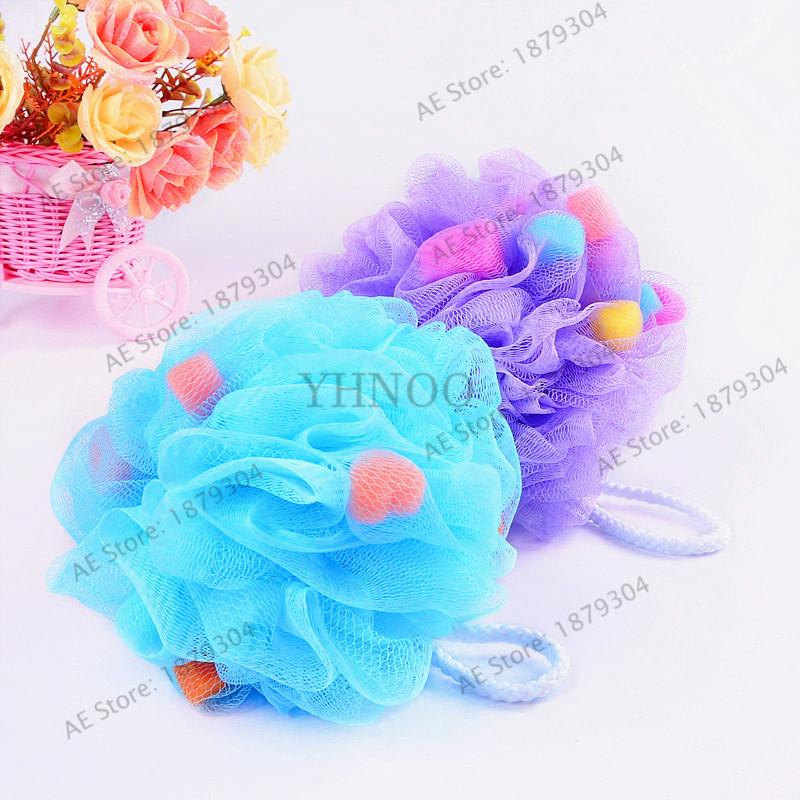 2018 Mixed Color Bath Ball Tubs Scrubber Shower Body Cleaning Mesh ...