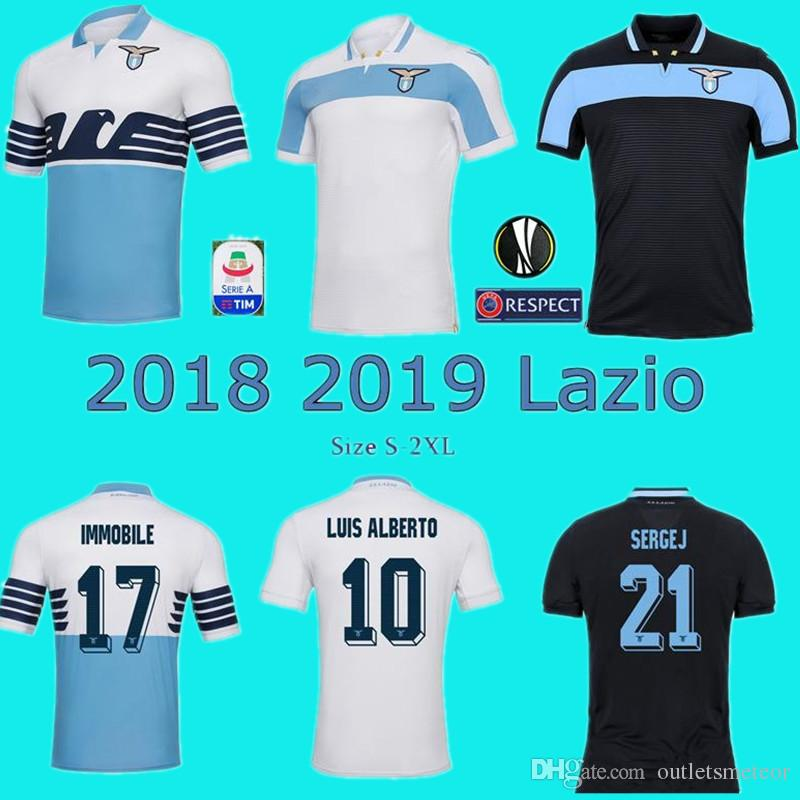154786dcf 2019 2018 2019 Lazio Soccer Jersey Home Away 3rd 18 19 IMMOBILE SERGEJ  LULIC LUIS ALBERTO LUCAS Football Shirt Size S 2XL From Outletsmeteor, ...