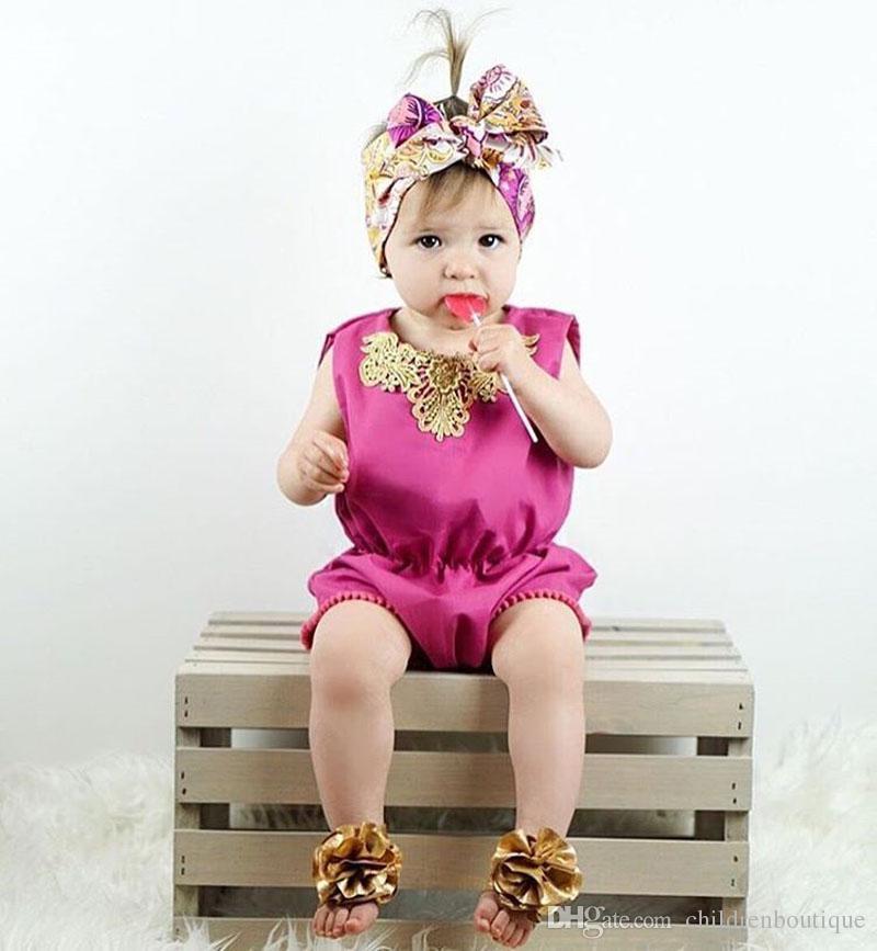 Bebé recién nacido de encaje de encaje borla Romper verano flor mono traje de sol Traje Ropa de niños Niñas Ropa de Boutique Ropa de niños es