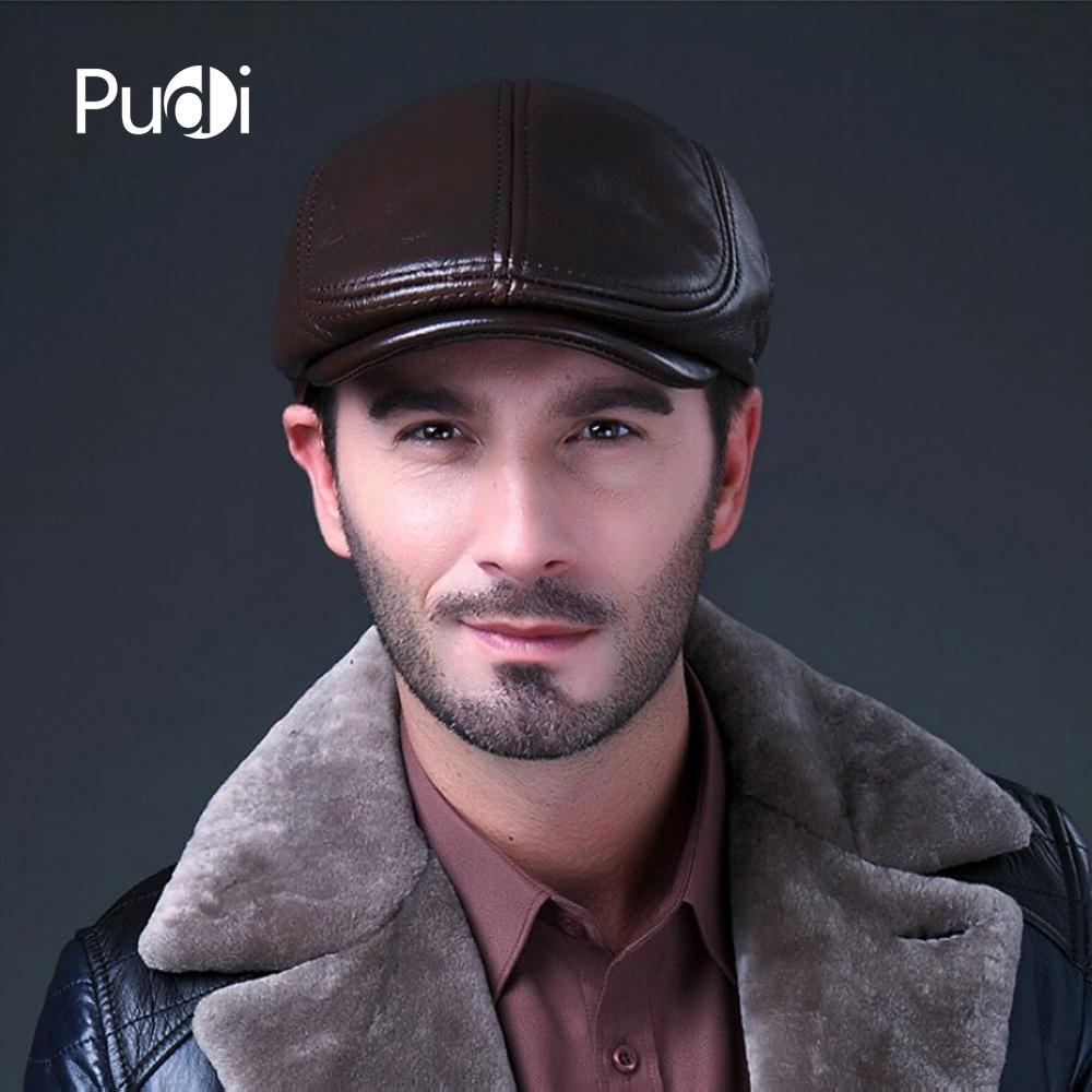 a3854711 HL042 Mens Genuine Real Leather Baseball Caps Hats Brand New Cow Skin Beret Newsboy  Hat Cap Black Brown Coffee Army Cap Cheap Hats From Pudi, $20.0| DHgate.
