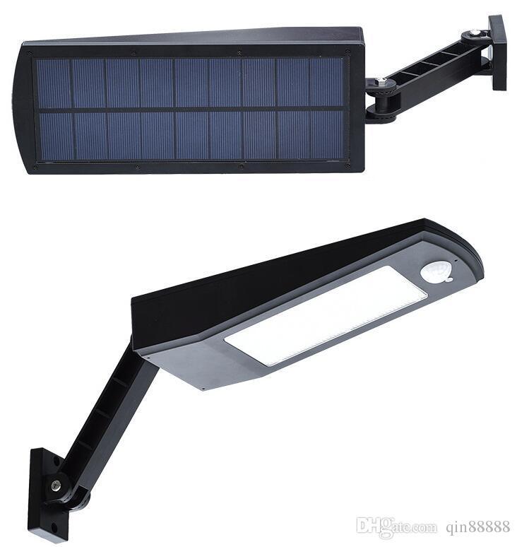 6.8W 48 luce solare del LED, Mulcolor Outdoor Wireless Solar Powered lampada da parete della luce con Modi intelligenti giardino, patio e Pathway