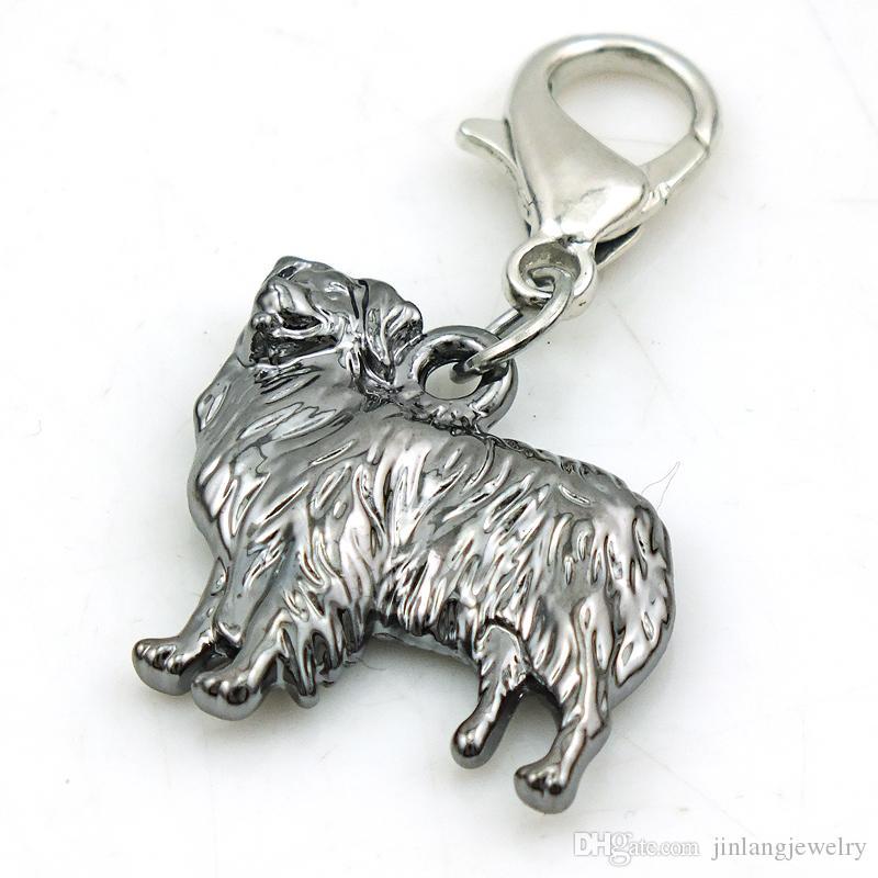 JINGLANG lega metallo Jinglang fascino animale cane con pietra gioielli fai da te braccialetto che fa il regalo del bambino