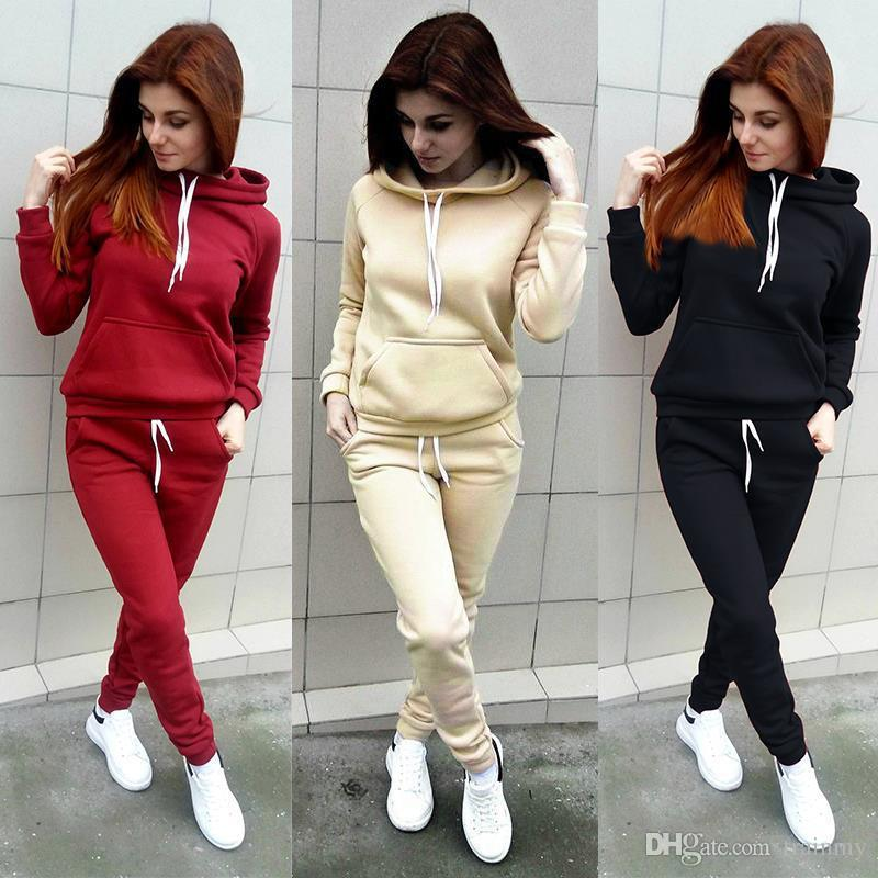 8a6e6f1158c Cheap New Multicolor Optional Autumn And Winter Women s Clothing Europe And  the United States Long-sleeved Tracksuits