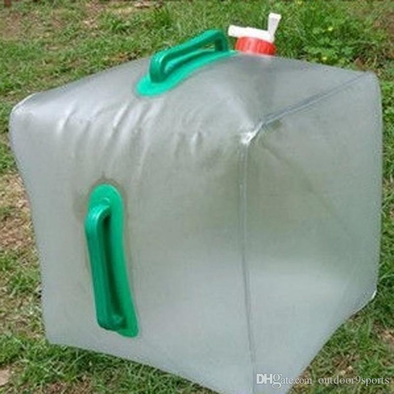Открытый 20L складной мешок воды большой емкости портативный контейнер для воды чайник пластиковые ведро кемпинг оборудование бутылки воды
