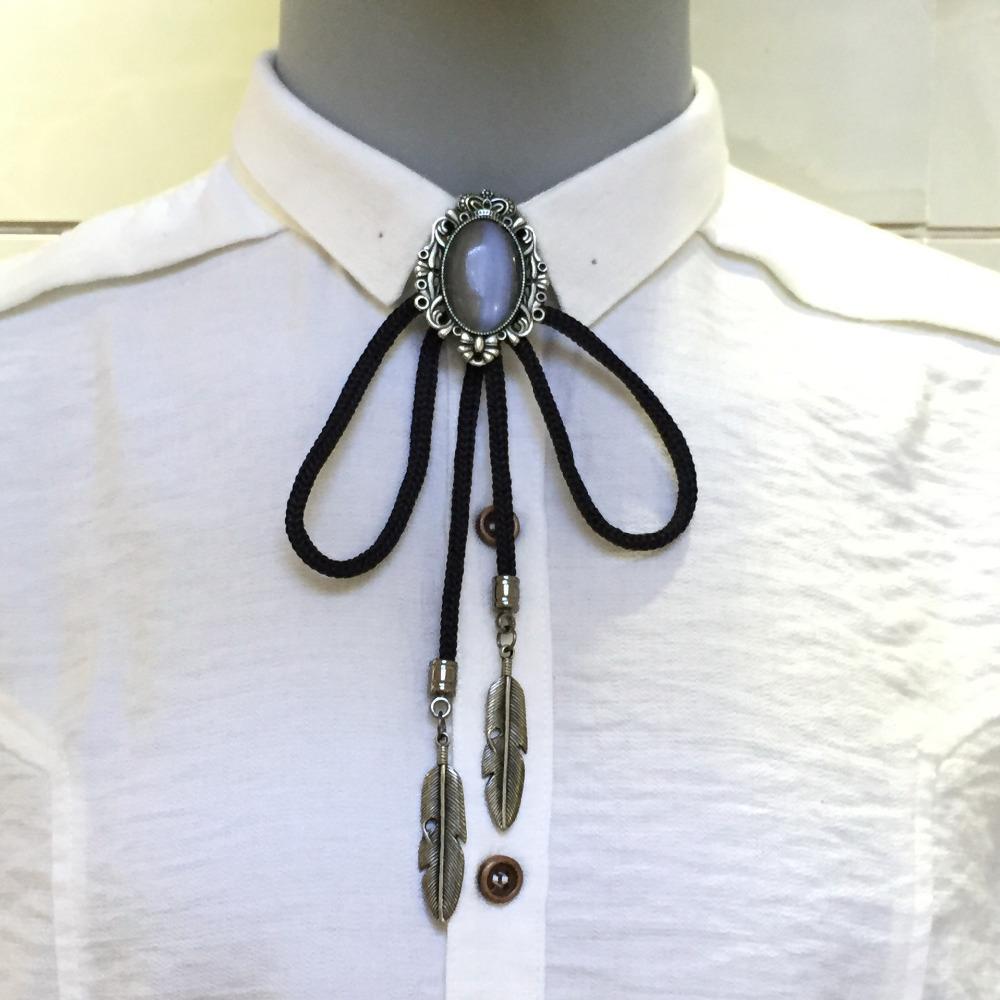 698a70665254 Mantieqingway Bolo Tie Cowboy Style Bolo Tie Men's Neck Tie Shoestring  Necktie Men Jewelry Vintage Bolo Necklace Ties for Men